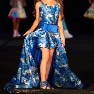 Girls size 8 Fun Fashion. Mac Duggal cut down.